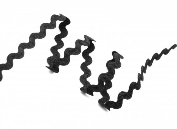 5m Zackenlitze 12mm schwarz 1