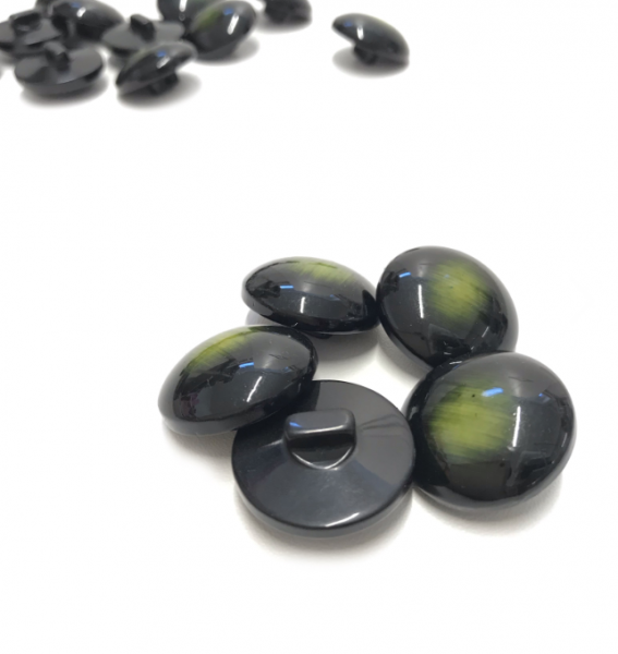 Mantelknöpfe 5 Stk. - marmoriert - smaragdgrün 25mm