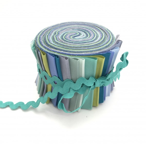 Jelly Roll Aquamarin, 6,5cm breit