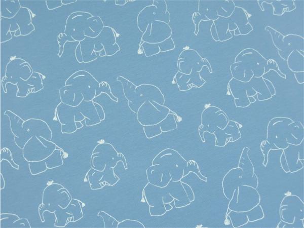 Jersey Elefanten blau Motivgröße ca. 10cm