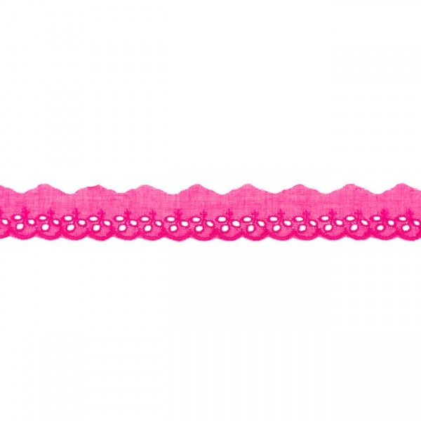 """Stickerei-Spitzenborte """"kleine Blümchen"""", 3cm, pink(05)"""