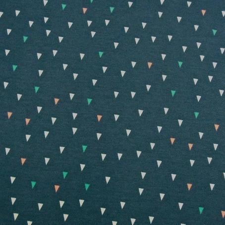 Frech Terry Triangles marine Dreiecken