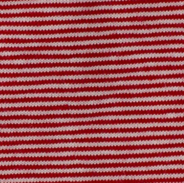 Jersey Mini-Streifen rot-weiß