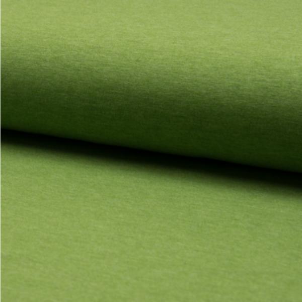 Jersey uni meliert hellgrün