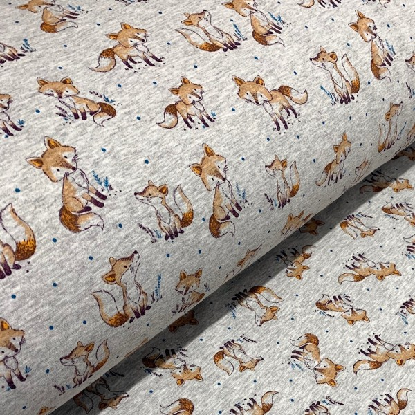 Alpen-Fleece Fuchs hellgrau meliert