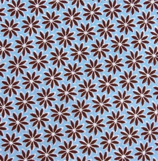 Blütenzauber hellblau-braun 1/58
