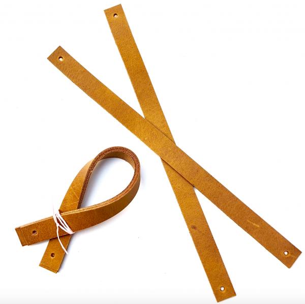 Ledergriffe für Utensilos 25 cm