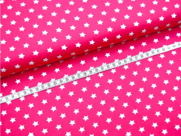 2 Größen Sterne: pink-weiß