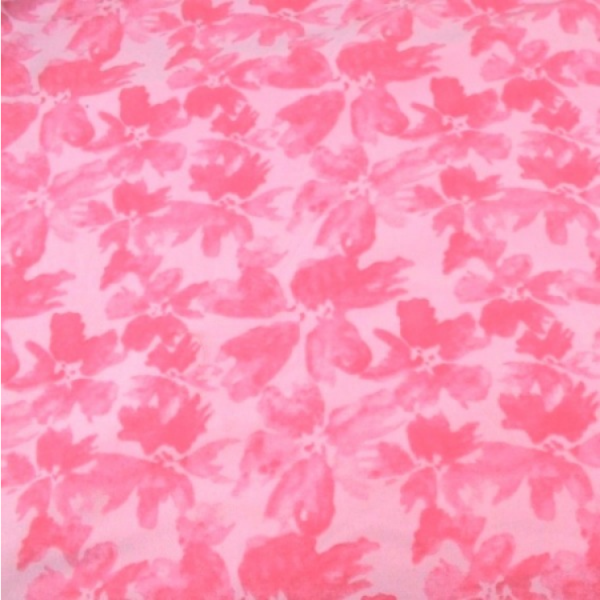 French Terry Aquarell Blume rosa
