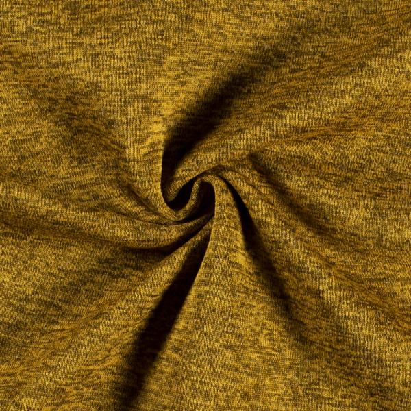 Strick-Sweat senf melange- mit angerauter Innenseite