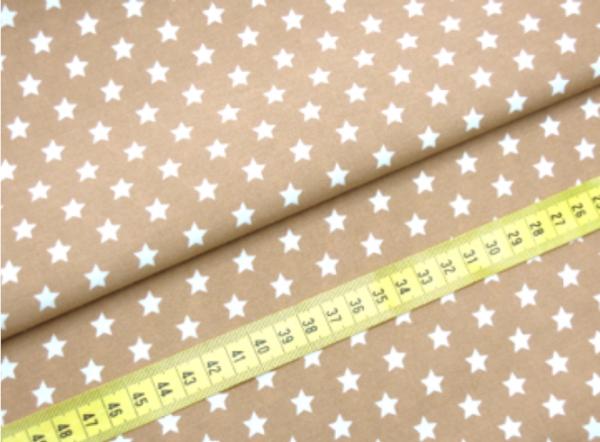 2 Größen Sterne: beige-weiß