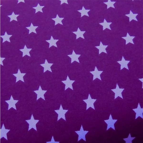 Jersey Sterne violett-flieder