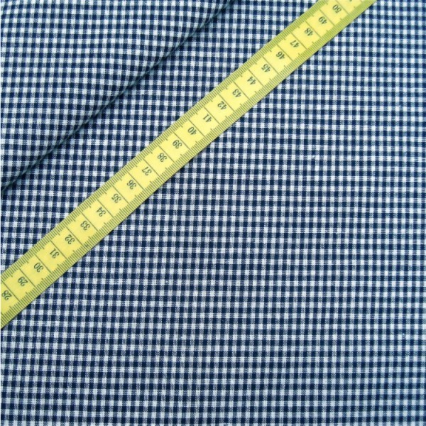 Vichy-Karo marineblau 2 Größen