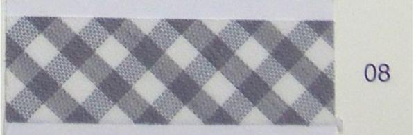 5m Schrägband Vichy-Karo 2mm grau (08)