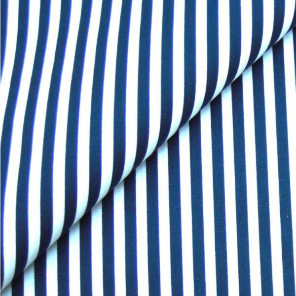 Baumwollwebware, Streifen marineblau-weiß