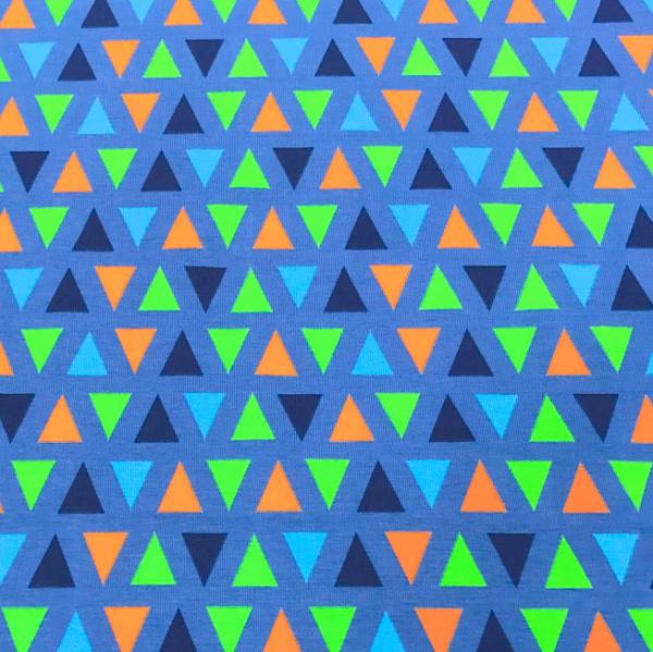 Jersey Neon Dreiecken blau-orange-grün