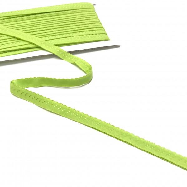 Elastisches Einfassband, Wäschegummi, lime, hellgrün