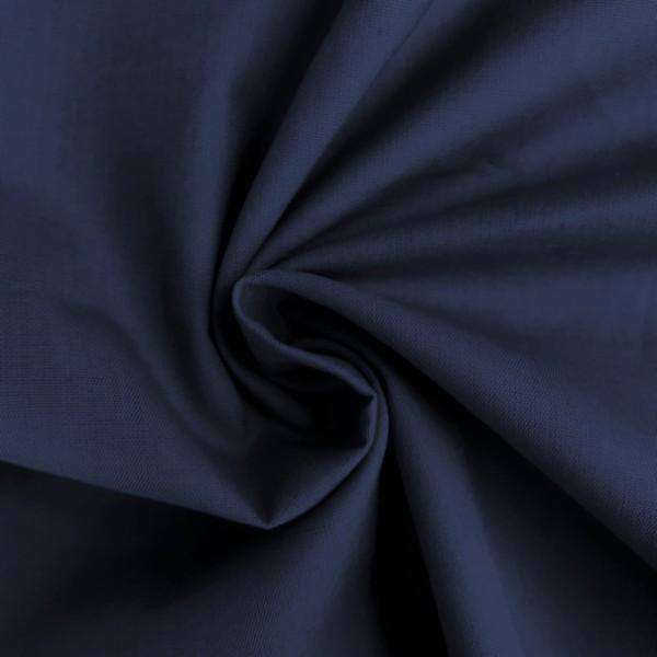 Uni-Baumwollstoff dunkelblau