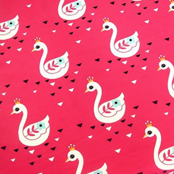 Jersey Schwäne mit Krone pink
