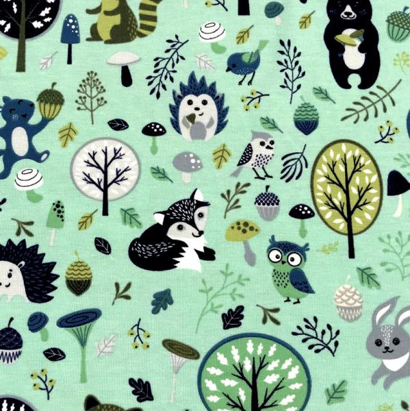 Jersey mint-grün Waschbär, Igel & seine Freunde