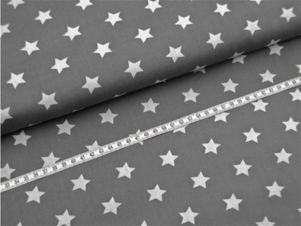 2 Größen Sterne: dunkelgrau-weiß
