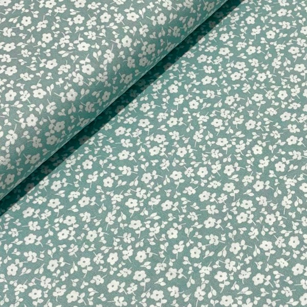 Streublumen mint-weiß 100%BW