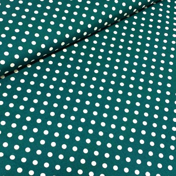 Punkte groß tannengrün-weiß 100% BW