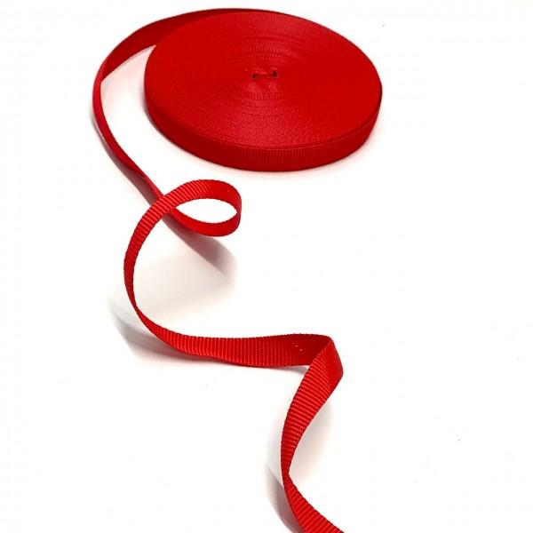 Gurtband Polyester rot, 15mm breit