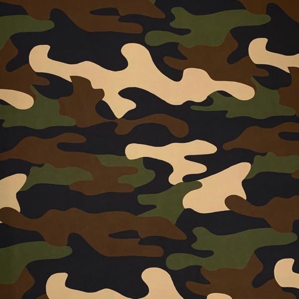 Softshell Camouflage, Fleece-Rückseite in schwarz