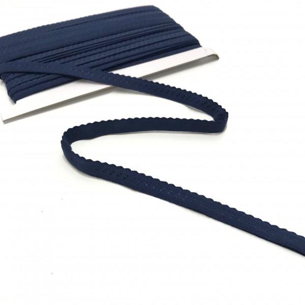 Elastisches Einfassband, Wäschegummi, dunkelblau