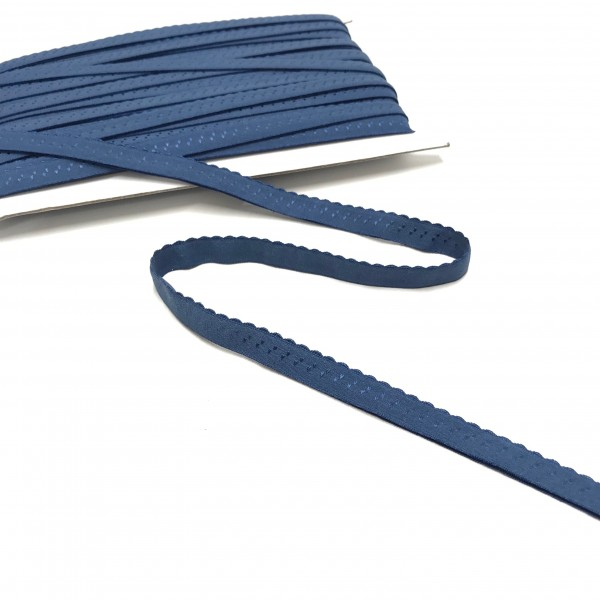 Elastisches Einfassband, Wäschegummi, jeansblau