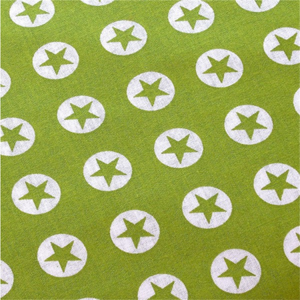 Stern-Button, hellgrün-weiß