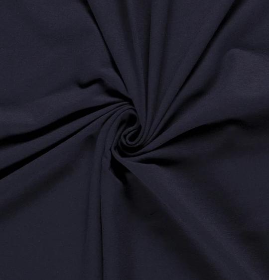 French Terry Uni dunkelblau 250 g/m2 1,5m breit ÖkoTex 100
