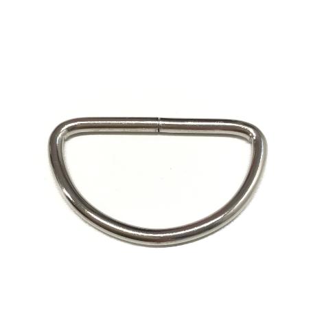 D-ring 40mm, silbern