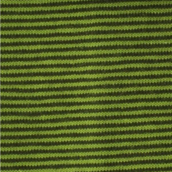 Jersey Mini-Streifen moosgrün-limette