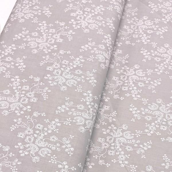 weiße Blume auf grau 100% BW