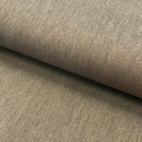 Canvas Leinen-Optik uni taupe Baumwolle