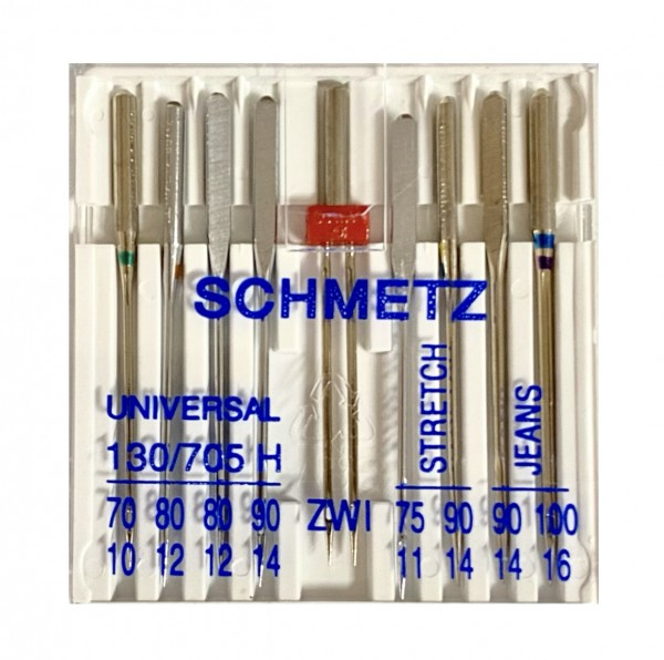 Nähmaschinennadel-Set: Universal, Zwillingsnadel, Stretch, Jeans, Schmetz