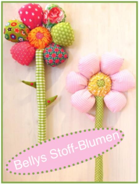 Bellies Stoff-Blumen Schnitt und Anleitung