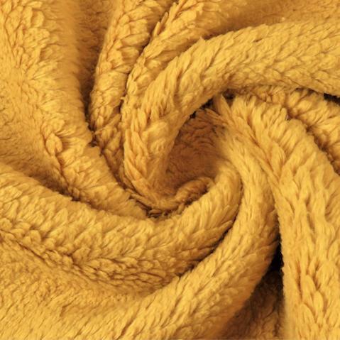 Teddyplüsch (Baumwolle) senf