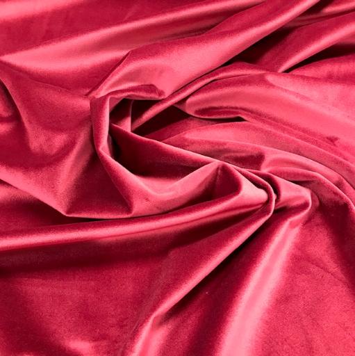 Samt Polyester uni bordeaux