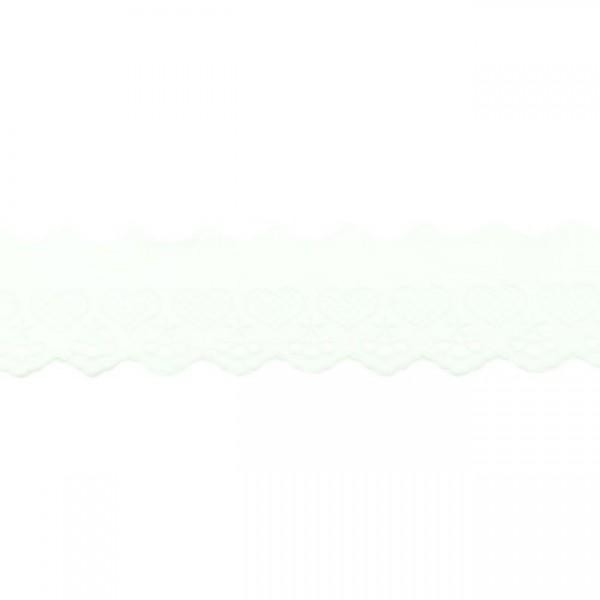 """Stickerei-Spitzenborte """"Herz"""", 5cm, weiß(54)"""