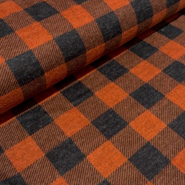 Herbst Jersey Holzfäller-Karo brique