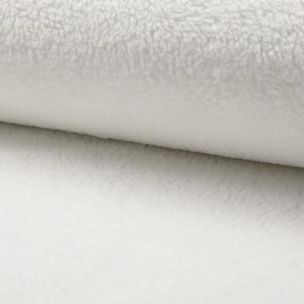 Teddyplüsch (Baumwolle) schneeweiß reinweiß