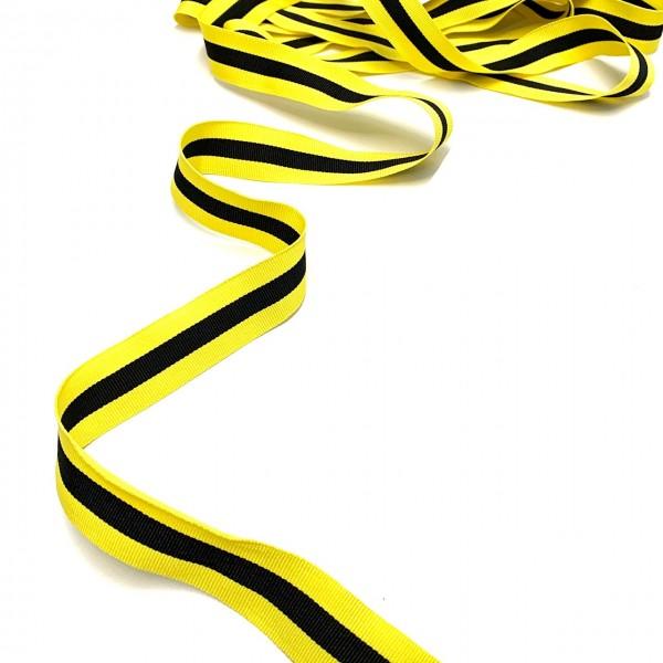3m Ripsband Gelb-schwarz
