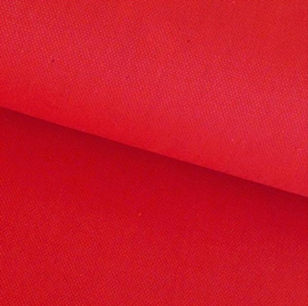 Canvas Baumwolle uni rot