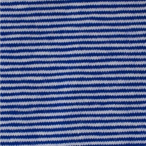 Jersey Mini-Streifen royalblau-weiß