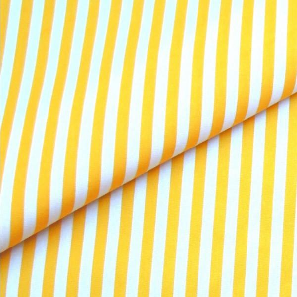 Baumwollwebware, Streifen gelb-weiß