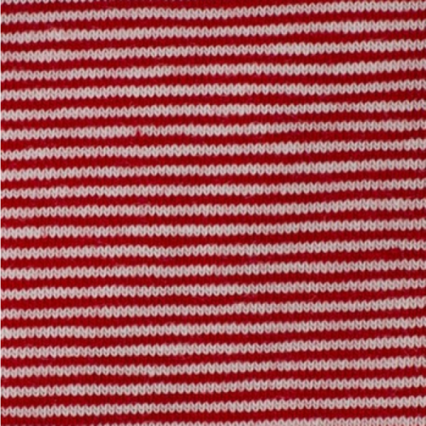 Bündchen Mini-Streifen rot
