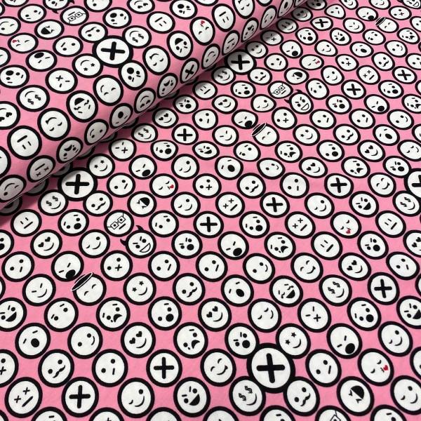 Jersey Punkt-Punkt-Komma-Strich rosa